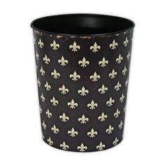 Decorating idea - Add a Fleur de Lis wastebasket to your French themed bedroom! (wakeupfrankie.com)