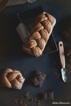 Chocolate Marble asian bread - Pan asiático marmolado