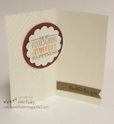 Founder's Circle Swap :: Confessions of a Stamping Addict Thanksgiving Card Lorri Heiling