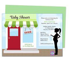 shower invitations, invit templat, babi shower, baby showers
