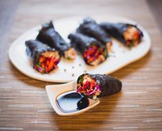 Vegetable Nori Rolls with Crunchy Lentils and Turmeric