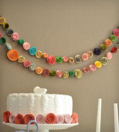 Colour Paper Flower Garland