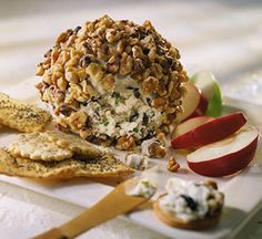 This popular standby--a combo of cream cheese, blue cheese, ripe olives, and walnuts--is a terrific appetizer to serve at get-togethers any time of year.