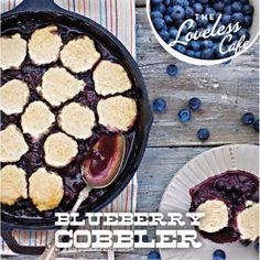blueberri cobbler, skillet cobbler, iron skillet, cobbler recipes, loveless cafe, blueberries, blueberri skillet, cast iron, dessert