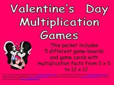 Multiplication Games!! Facts from 0 x 0 up to 12 X12!!