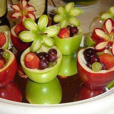 fruit tray bowls