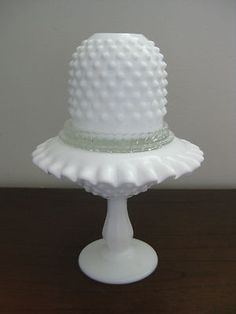 fenton hobnail fairy lamp