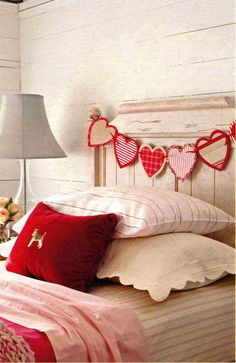 Heart Garland on bed
