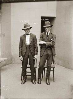 Vintage mug shot of gangsters from the 1920's-30's.