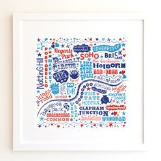London Map Print by Love on the hill