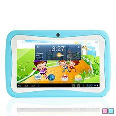 Android 4.1.1 Children Design Tablet 7 Inch Touch Screen(Dual Camera,DDR 3,Wifi,OTG) – USD $ 59.99