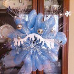 Winter theme wreath