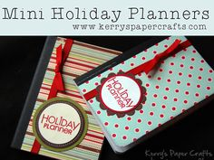 christmas crafts to sell at craft fairs | Craft Fair Goodies: Mini Holiday Planners