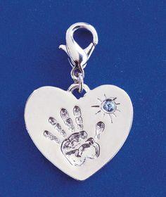 Birthstone Heart Handprint Charms|ABC Distributing