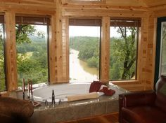Live in luxury at one of several beautiful cabins in Southeast Oklahoma such as River's Edge Cottages in Smithville.