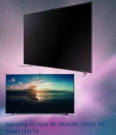 Samsung 65-Inch 4K Ultra HD 120Hz 3D Smart LED TV