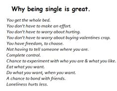 Love this! Everything what I love about being single