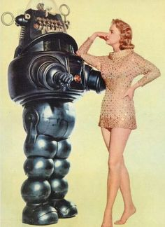 Anne Francis & Robbie The Robot