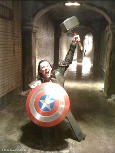 I am Loki of Asgard. And I am burdened with a glorious props department