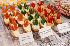 Baguette Cups for Veggies...what a fun idea for snacks at one of our activities