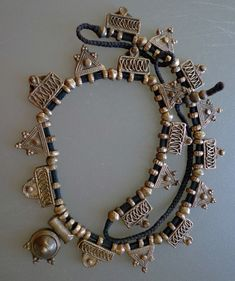 Africa | Telsum beads from Ethiopia | Coin silver, or a silver alloy