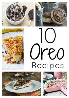Love Oreo cookies? You will love these 10 awesome recipes that use Oreo cookies! #oreo #roundup