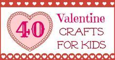 valentine crafts, cottag, castl, 40 valentin, valentin craft