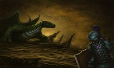 This piece of art, entitled 'Dragon Slayer', is something we're a huge fan of. Looks amazing!  #RuneScape