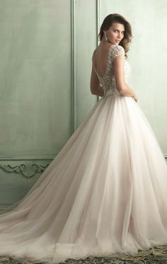 wedding dressses, tulle skirts, ball gowns, sleev, weddings, dress wedding, dresses, allur bridal, allure bridal