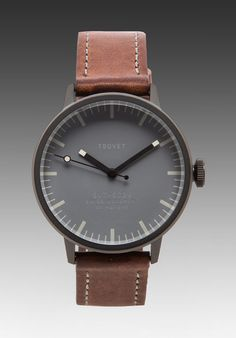 Gray leather watch