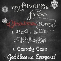14 Free Beautiful Christmas Fonts!