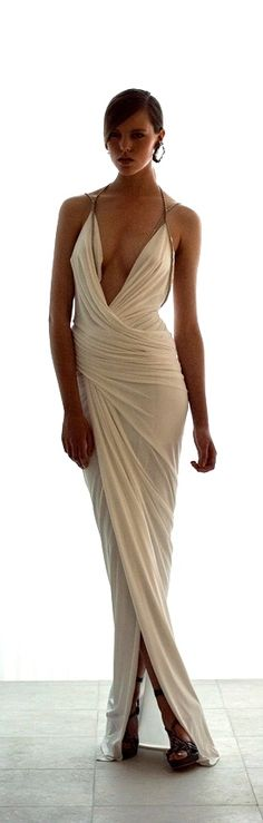 Modern Goddess - Glamour Gorgeous Grecian Style white Gown