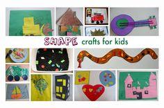 Huge list of shape crafts and activities for preschoolers.