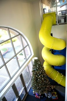 Diy interior slide project from kids 39 rooms up to family room down on pinterest indoor - The giant slide apartament ...