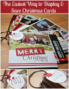 The Easiest Way to Display and Save Christmas Cards Year After Year