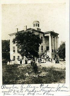 Baylor Female College, 1884