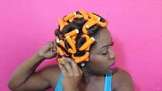 Flexi Rods on Dry Hair
