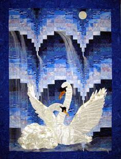 Bargello Swans quilt