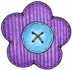 color, flower button, clipart, printabl