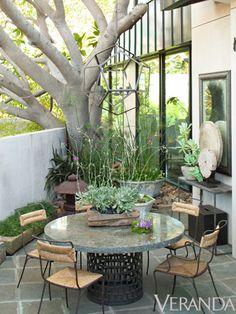 garden ideas, los angel, outdoor space, small patio, veranda