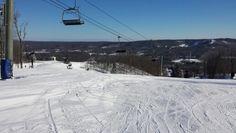 Skiing at Boyne Highlands up in Northern Michigan.