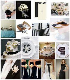 black & white / ecru / cream wedding inspiration by finestationery, via Flickr