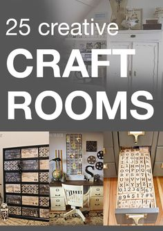 25 creative craft rooms