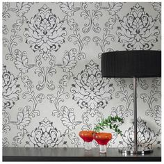 Graham & Brown Heritage Charcoal Wallpaper by ECO - 18558