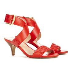 fashion, red shoes, heel, societi penelop, red sandal