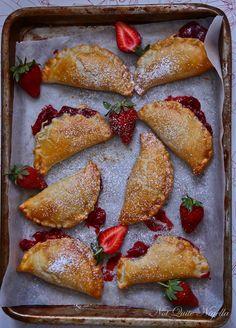 tartas de fresa mano