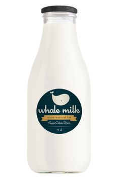 whale milk lovely label