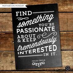 Motivation Monday - Free Printable - Julia Child | Elegance & Enchantment