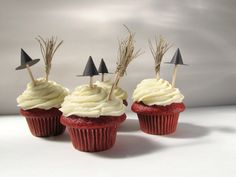 Halloween cupcake toppers.