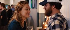 Olivia Wilde and Jake Johnson in Drinking Buddies.